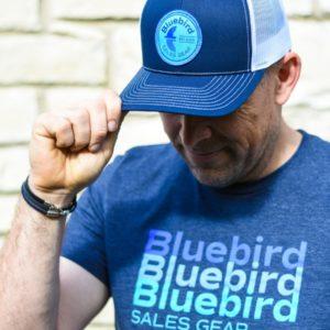 Bluebird Logo Snapback Trucker Cap