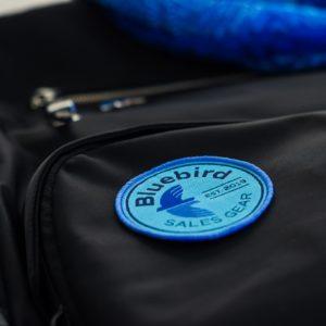 Bluebird Logo Iron On Patch